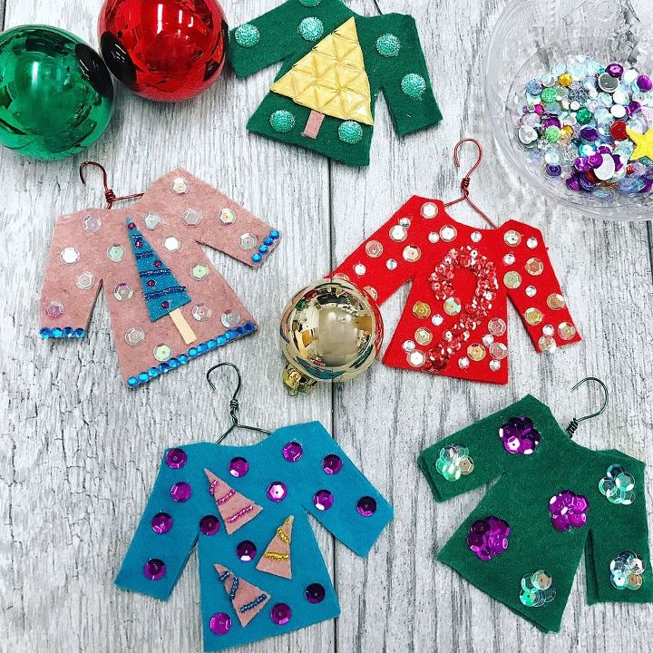 Diy ugly sweater ornaments hometalk