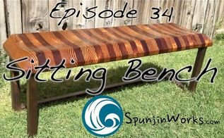 sculpted reclaimed wood and steel bench, outdoor furniture