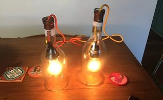 how to make a pendant light with an alcohol bottle , how to