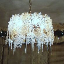 beautiful snowflake chandelier, lighting