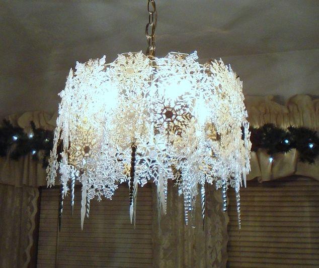 beautiful snowflake chandelier hometalk
