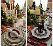 one table two looks, painted furniture, Polished to Plaid Two Looks One Table