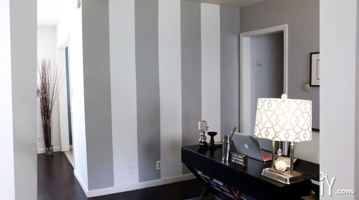How To Paint A Striped Accent Wall Home Decor