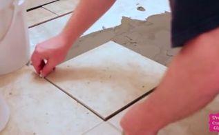 small bathroom renovation tile floor installation, bathroom ideas, decks, flooring