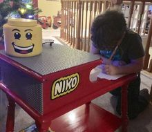 how to make a lego art table, crafts, how to, painted furniture, LEGO Art Table