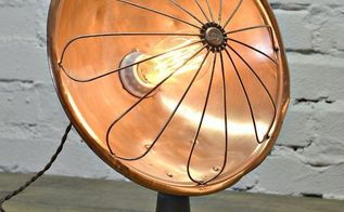make a lamp from an antique copper heater, hvac, lighting, repurposing upcycling