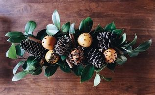 rustic winter spiced orange pomanders centerpiece