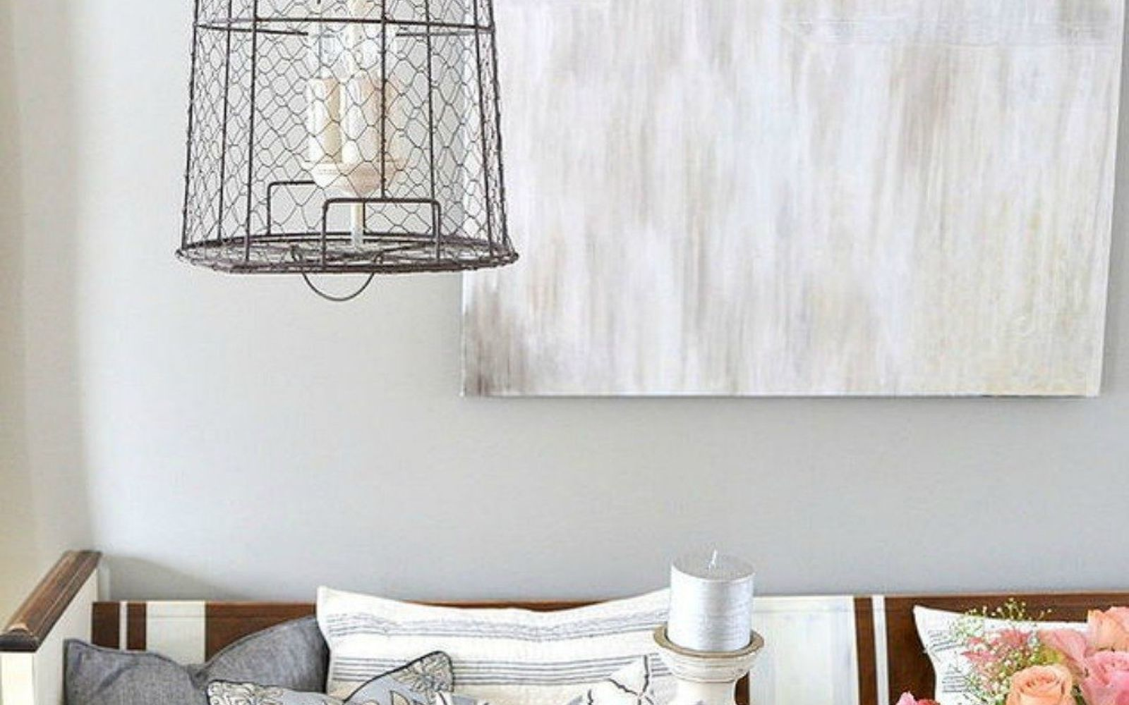 s 14 amazing basket ideas from highly creative moms, crafts, Or this boho chic farmhouse light