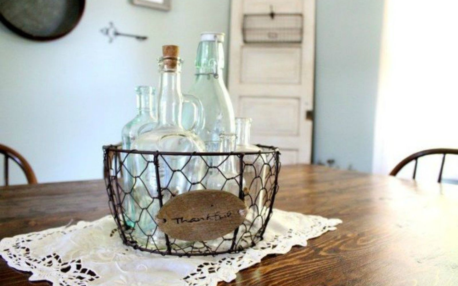 s 14 amazing basket ideas from highly creative moms, crafts, Make them your table s centerpiece