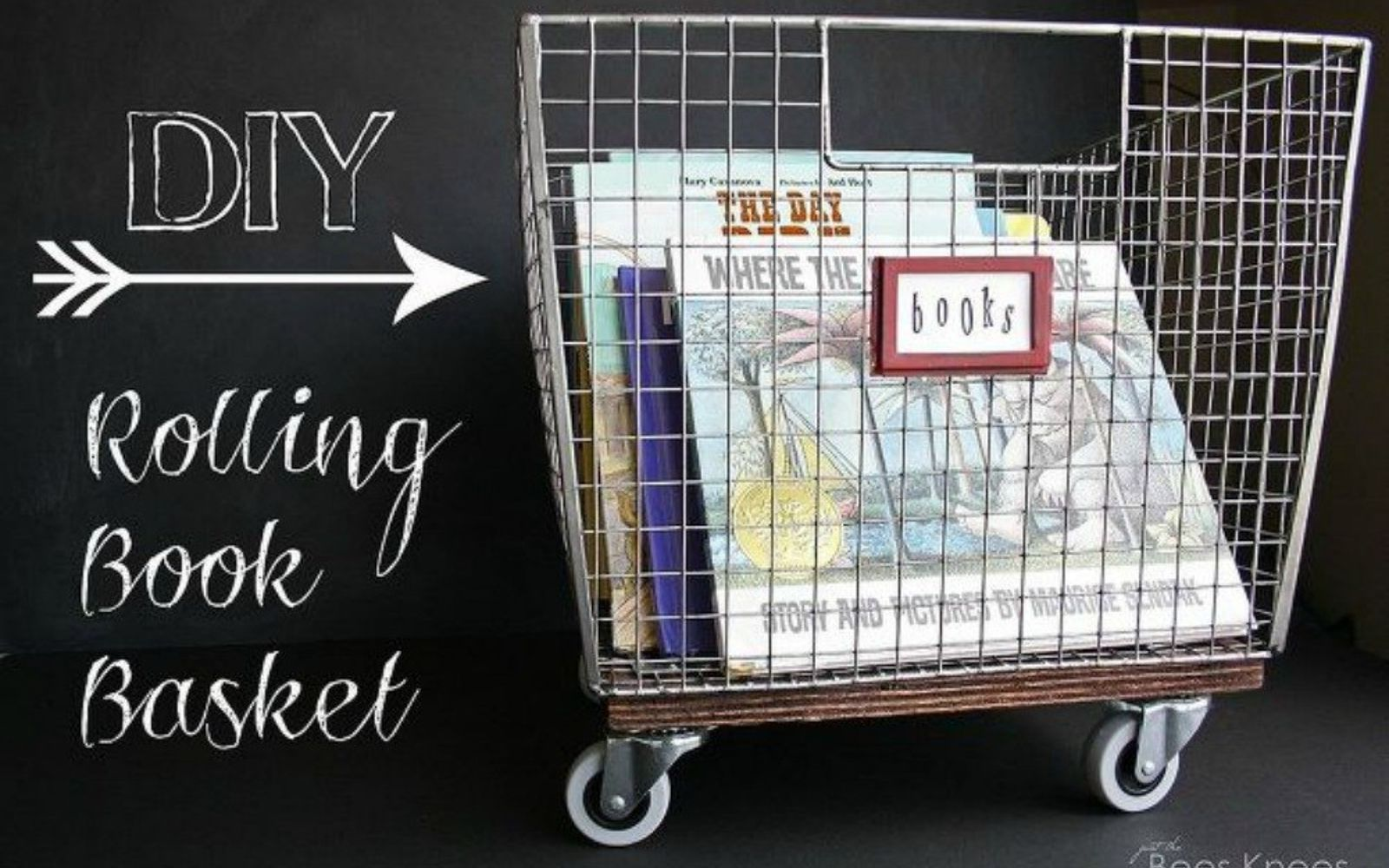 s 14 amazing basket ideas from highly creative moms, crafts, Turn them into your new book holder