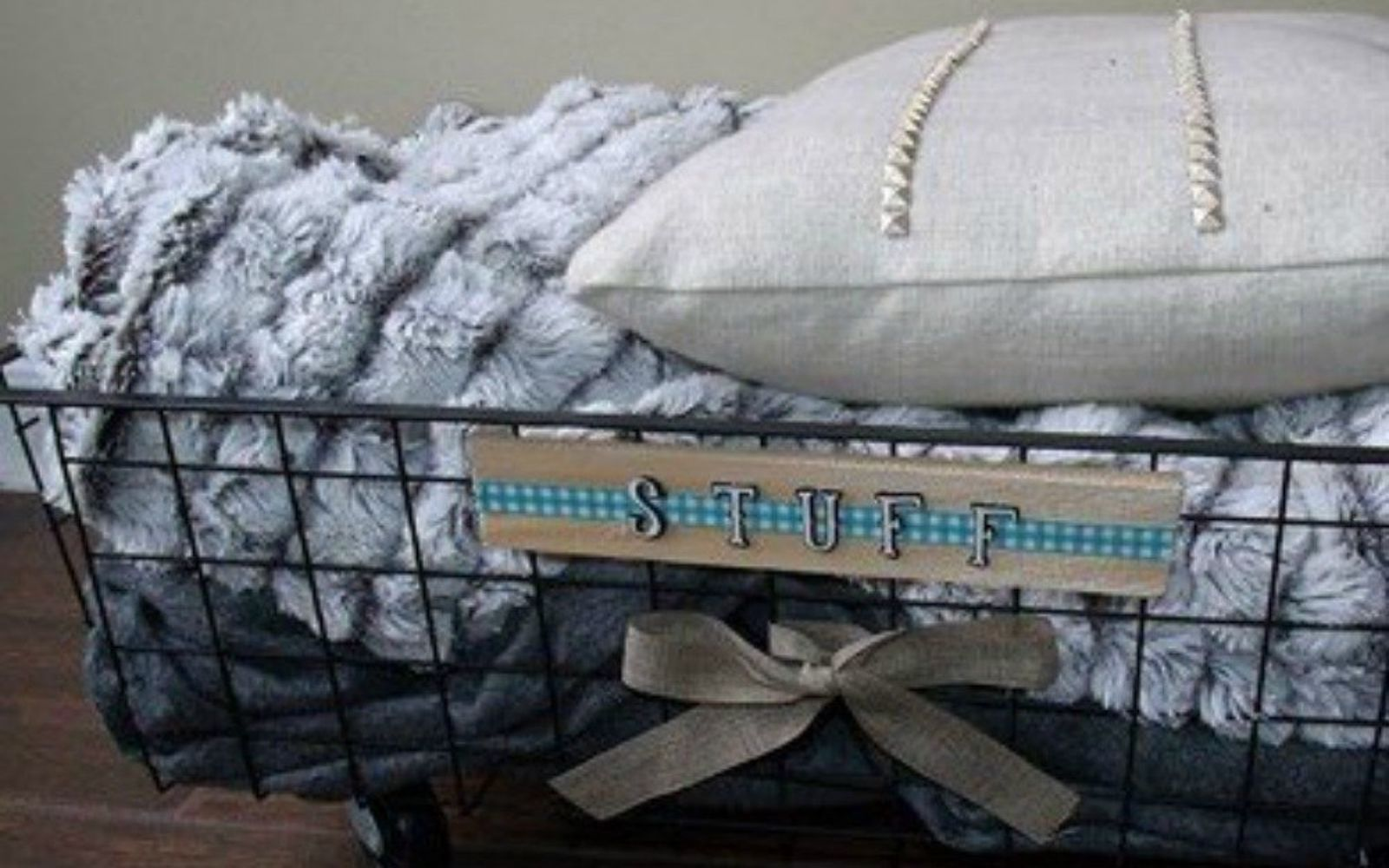 s 14 amazing basket ideas from highly creative moms, crafts, Flip them into rolling pillow organizers