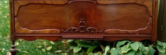 q need ideas for repurposing an antique footboard, repurposing upcycling