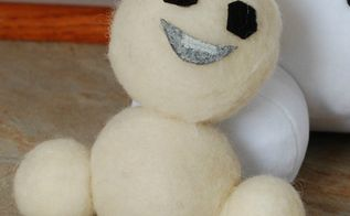 frozen fever diy felted mini snowmen