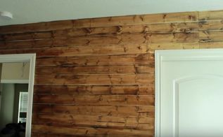 diy rustic wood wall under 40