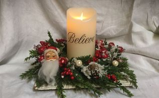 christmas light centerpiece, Wine bottle Centerpiece