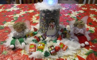 repurposed upcycled yogurt container christmas holiday decoration