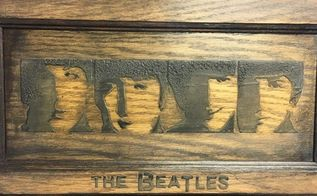 the beatles carved wood finish