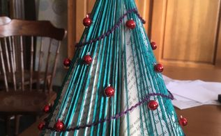 christmas tree made out of a book