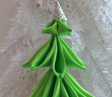 ribbon christmas tree ornament, christmas decorations, crafts, seasonal holiday decor