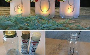 diy mason jar holiday luminaria, mason jars