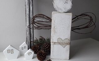 rustic wooden angel christmas home decor, home decor