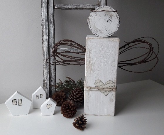Rustic Wooden Angel Christmas Home Decor Hometalk