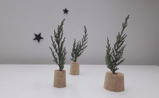 wine cork trees christmas decor, christmas decorations, home decor