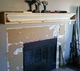 new modern fireplace surround hometalk