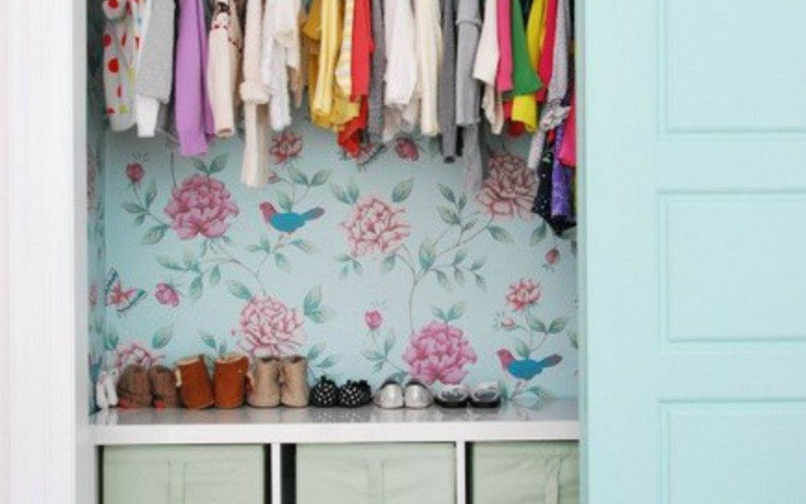 s 20 ways you never thought of using wallpaper, wall decor, Make your closet more exciting
