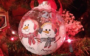 what to do with leftover paint painted ornaments, christmas decorations, seasonal holiday decor, Cute