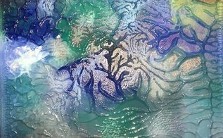 use unicorn spit and canvas for 3d ocean coral effect, Look at the cool 3D coral effect
