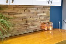 backsplash from reclaimed pallets, kitchen backsplash, kitchen design, pallet