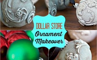 epic dollar store ornament makeover, christmas decorations, seasonal holiday decor