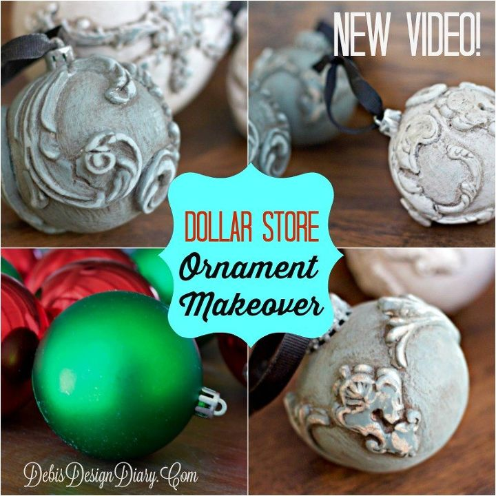 Epic Dollar Store Ornament Makeover