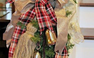 make a simple bow for your christmas decor, christmas decorations, home decor