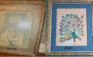 transforming a dated piece of art with unicorn spit, crafts, Before and After