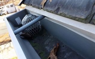 diy tip top gutter cleaning 101, cleaning tips, roofing, Don t forget about Half Round Strainers