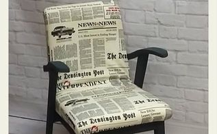 renovation of old polish chair from prl period