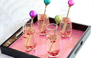 festive diy cocktail stirrers