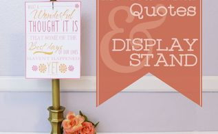 upcycled candle holder to photo quote stand
