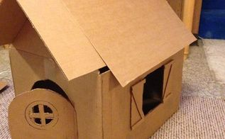 cardboard box cat house