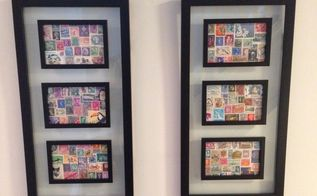 postage stamp collage art, crafts
