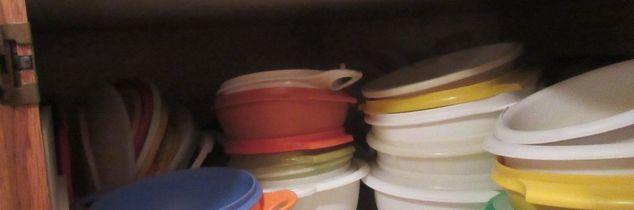 q storage for tupperwared lids, storage ideas