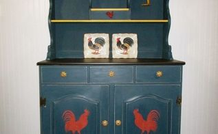 farmhouse hutch furniture makeover country style, painted furniture