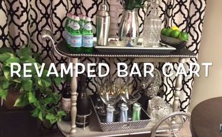 bar cart makeover how to style a bar cart, how to, outdoor living