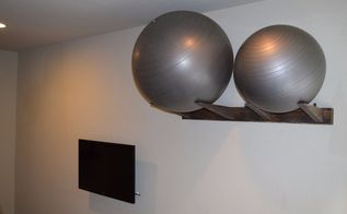 workout ball holder home gym organization, home decor, organizing