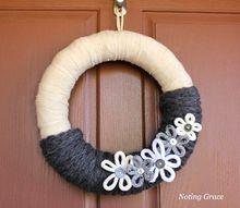 easy knit winter wreath, crafts, wreaths