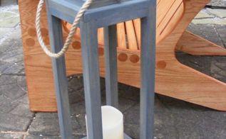 wooden lantern diy, outdoor living
