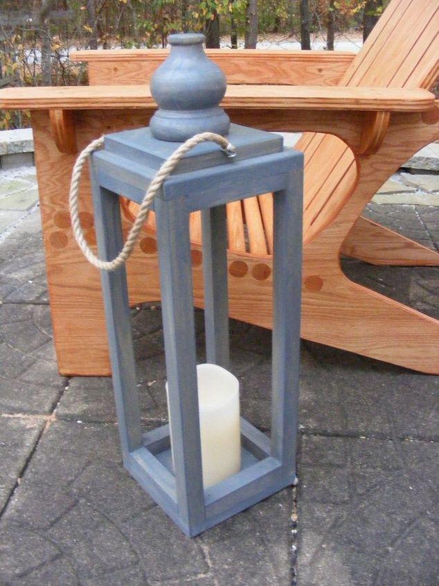 Wooden lantern diy hometalk for Wooden garden lanterns