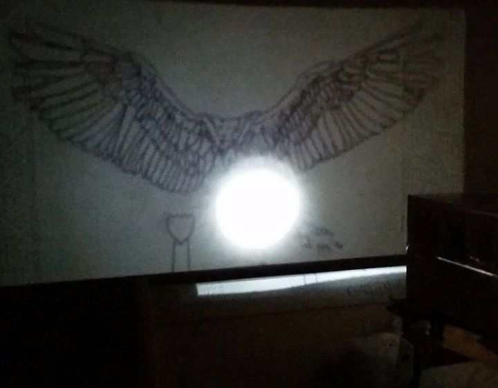Diy wall mural with a homemade projector hometalk for Diy wall photo mural